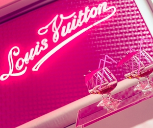 Louis Vuitton, neon, and pink image