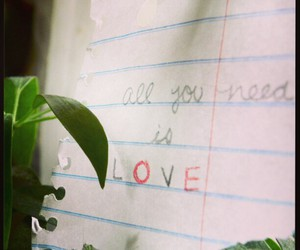 all you need is love, i miss you, and quote image