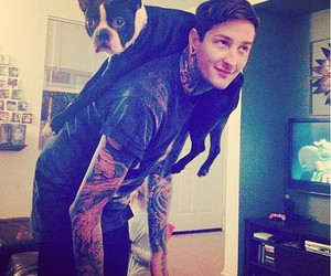 mitch lucker, suicide silence, and dog image