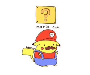 pikachu, mario, and pokemon image