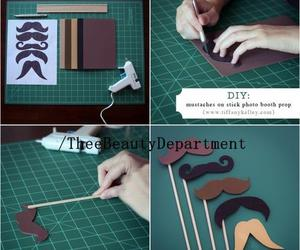 mustache, diy, and tutorial image