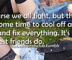 best friends, fight, and fix image