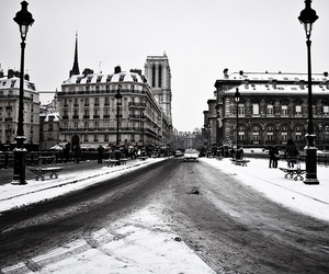 snow and black and white image