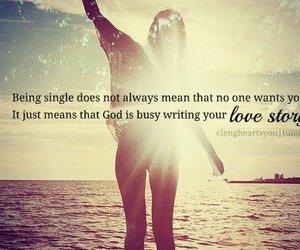 godly woman, christian man, and spiritually single image