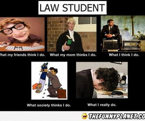 funny, Law, and law student image