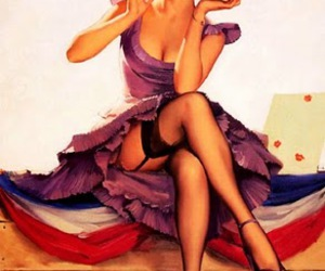 compact, pinup, and stockings image
