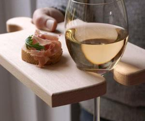 champagne, food, and wood image