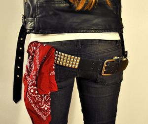 belt, bandana, and rock image