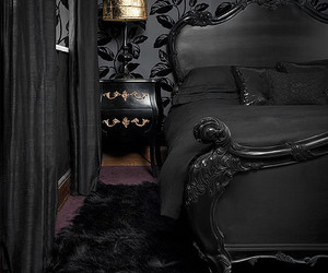 black, gothic, and bedroom image