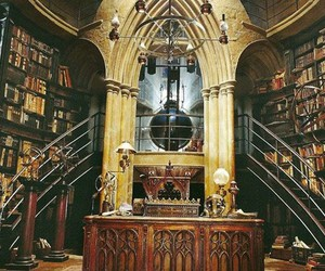 architecture, books, and harry potter image