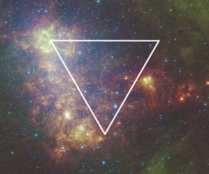 galaxy and triangle image