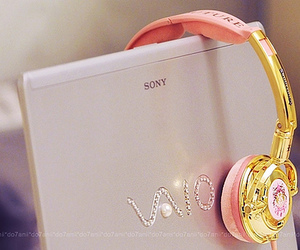 pink, sony, and vaio image