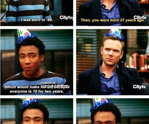 community, funny, and troy image