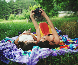 friends, girl, and camera image