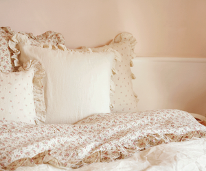 bed, pillow, and vintage image