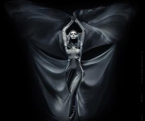dark, wind, and dress image