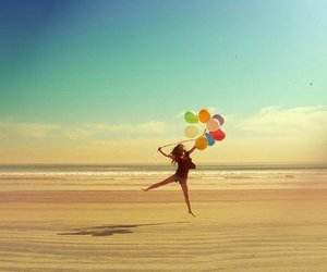 beach, balloons, and summer image