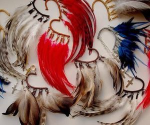 feathers and fashion image
