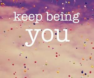 quote, you, and balloons image