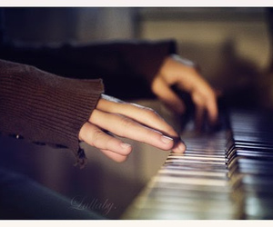 music, piano, and hands image