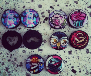 Plugs, pretty, and stretched ears image