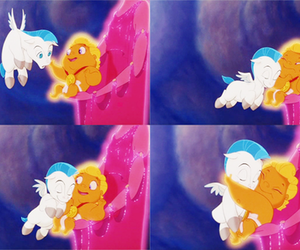 disney, hercules, and pegasus image