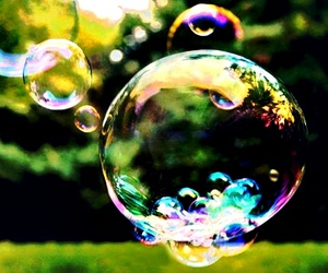 colors and soap bubble image