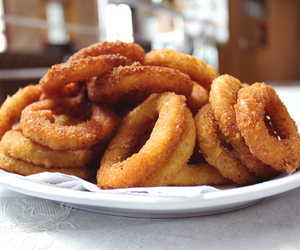 food, onion, and onion rings image