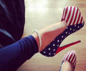 shoes, heels, and usa image