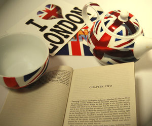 book, cup, and london image