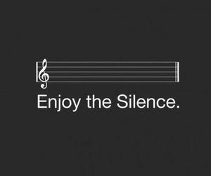 silence, enjoy, and music image