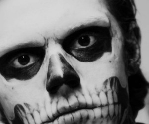 black and white, evan peters, and american horror story image