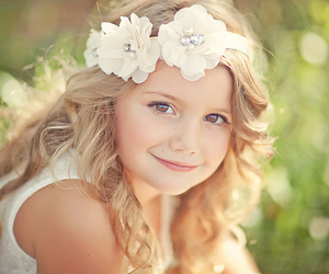 flowers, girl, and kids image
