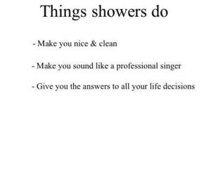 quote, shower, and life image