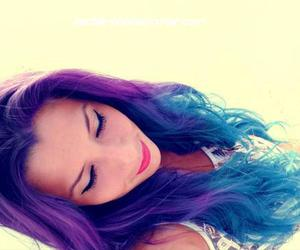 blue, hair, and people image