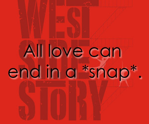 musical, west side story, and love image