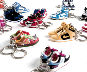keychains, nike, and shoes image