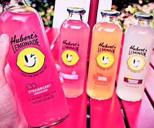 lemonade, drink, and pink image