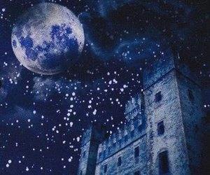 castle, magic, and moon image