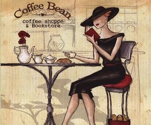 coffee, art, and book image
