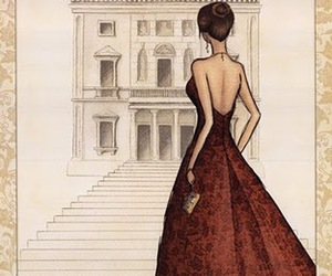 venice, art, and red dress image