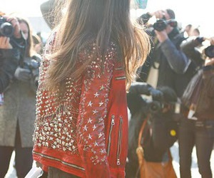 fashion, jacket, and red image