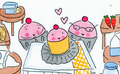 butter, cake, and cup cake image