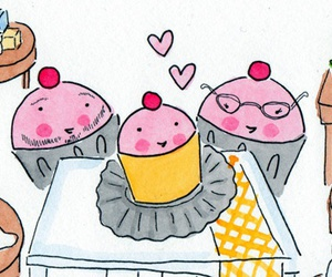 butter, cup cake, and cup cakes image