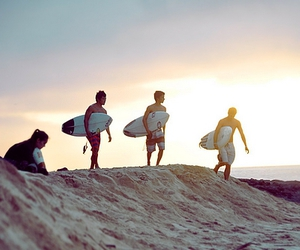 boy, surf, and beach image