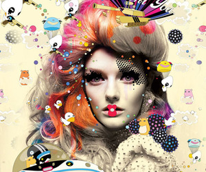 art, colorfull, and vogue image