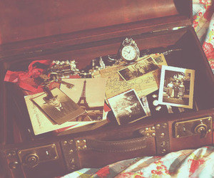 vintage, photo, and suitcase image