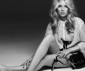 model, black and white, and lottie moss image
