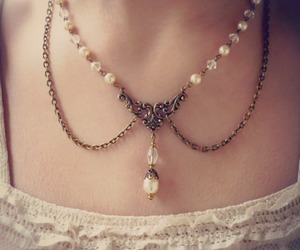 necklace, dress, and fashion image