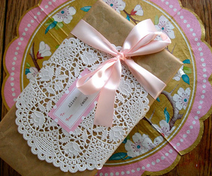 lovely, wrapping, and pink image